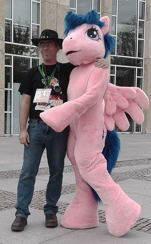 Me and Firefly at Galacon by AtalontheDeer