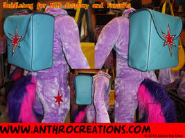 Saddlebag Tornister Backpack Brony Fursuit TWS by AtalontheDeer