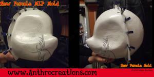 New Female Headbase Mold finished - front/back cut