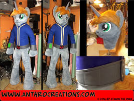 LittlePip Pony Equestria Fallout Fursuit by AtalontheDeer