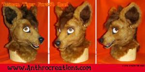 Tasman Tiger Fursuit Head 3D Eyes Moveable Jaw