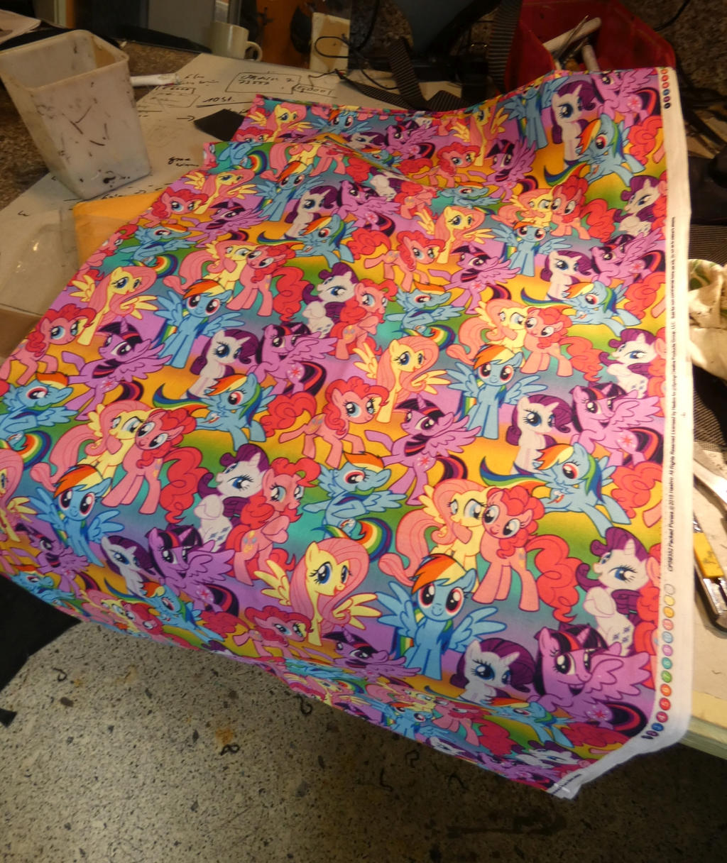 Pony fabrics arrived for scarfs by AtalontheDeer
