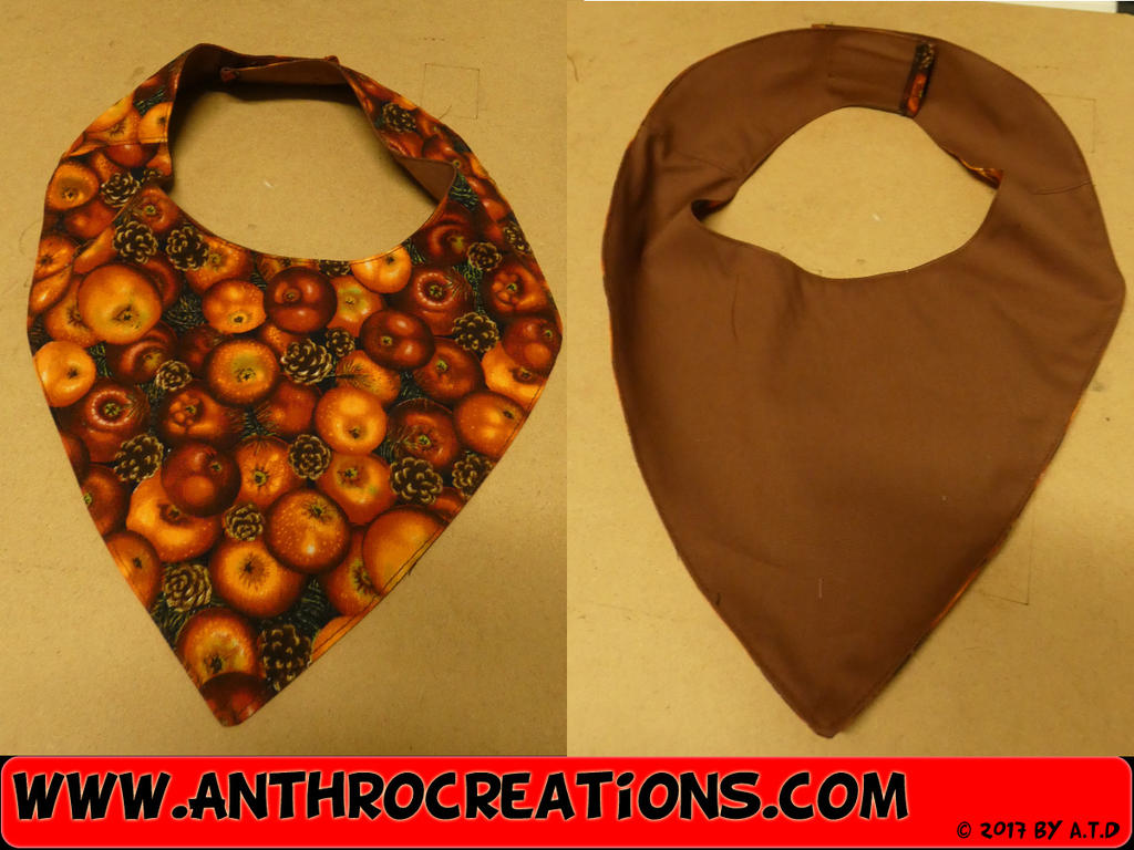 Neckerchief for Fursuit or Casual Autum Apples by AtalontheDeer