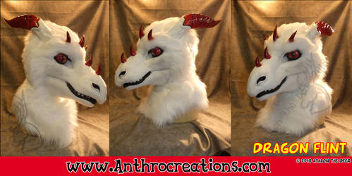 Dragon Head Flint  White Dragon by AtalontheDeer