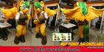 MLP Commission OC Bronycars Fursuit Pegasus by AtalontheDeer