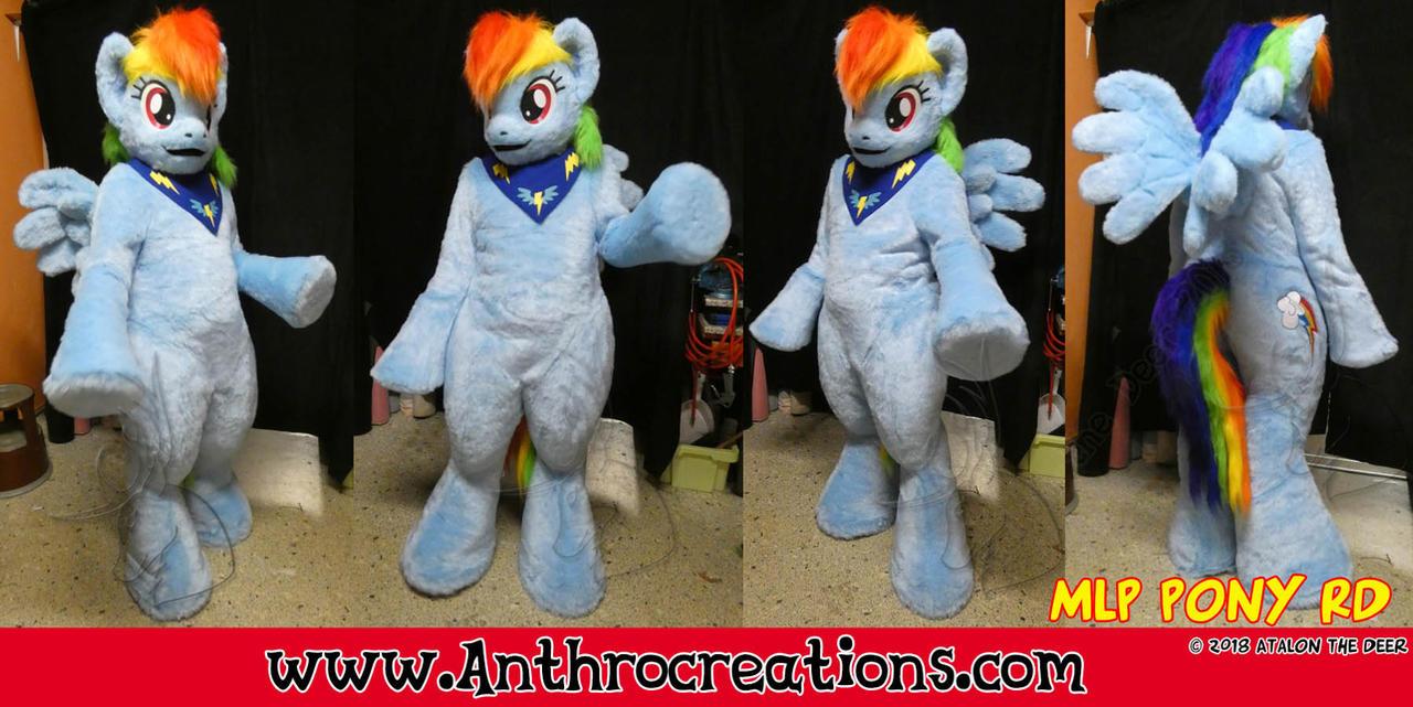 Rainbow Dash Cosplay Fursuit Pegasus Rainbow Pony