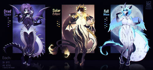 [Closed] Space Sisters Adopt Pack by CompleteAlienation