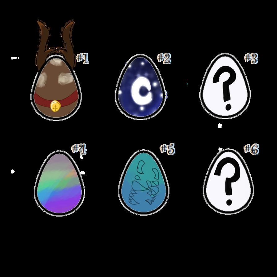 [2/6] Mystery dragon egg adopts by Thunderfsf