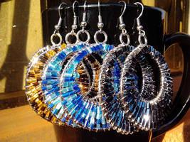 Beaded wire Earrings by birschey