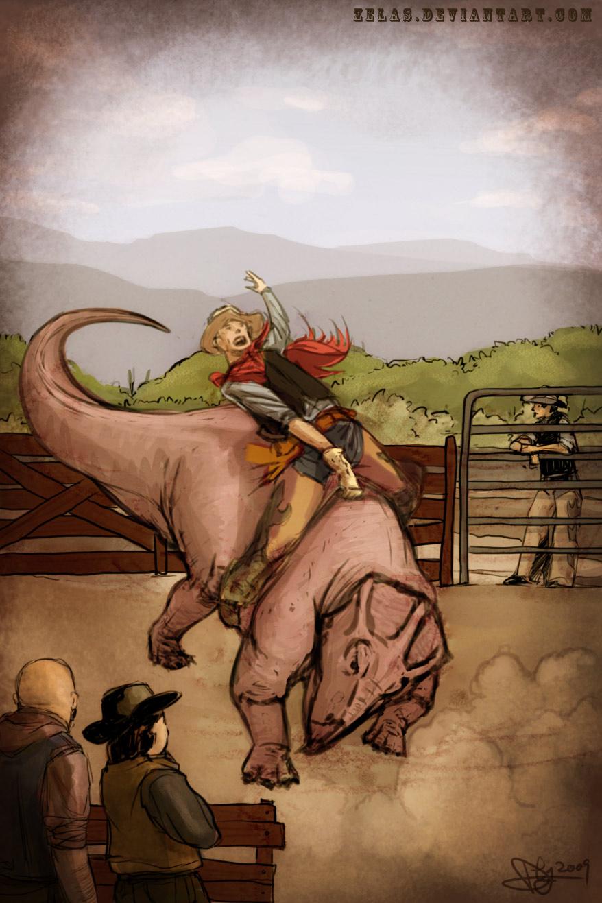 Udanoceratops Rider by zelas