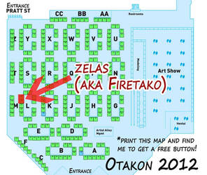 Otakon2012 Artist Alley Map