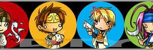 SD Buttons: Saiyuki set by zelas
