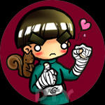 SD Buttons: Rock Lee by zelas