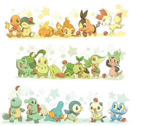 All Starters from all gens 1