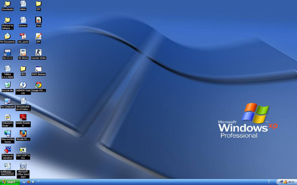 Windows xp professional desktop 3d