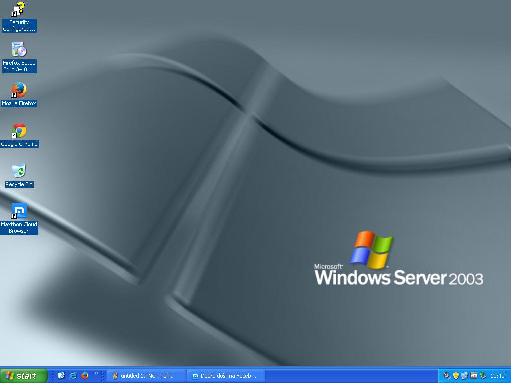 My Windows Server 2003 SP2 Enterprise Edition by