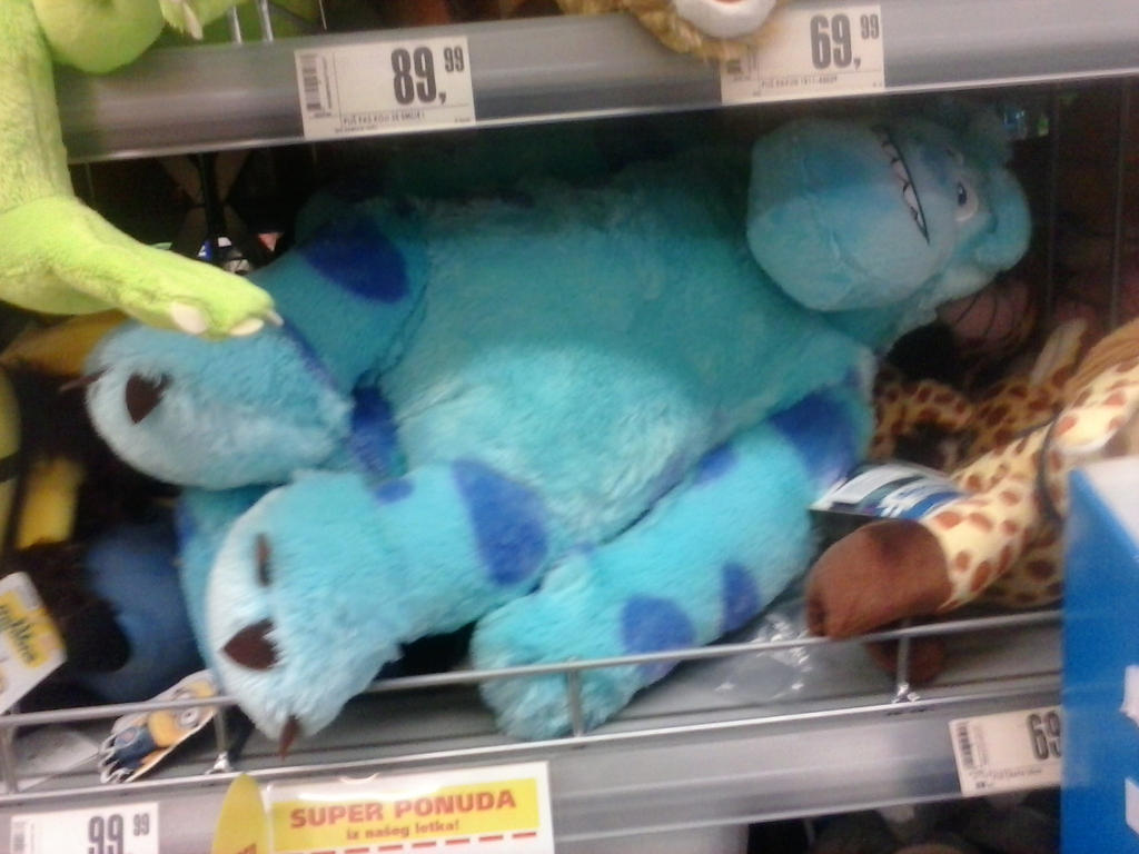 Giant Sulley Plush by PoKeMoNosterfanZG