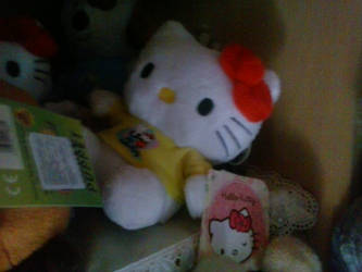 My Hello Kitty Plush with Yellow Shirt 7 by PoKeMoNosterfanZG
