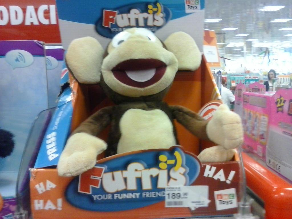 Fufris Talking Laughing Monkey Plush 2 by PoKeMoNosterfanZG