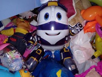 My 2ND Robot Trains Kay Foil Balloon