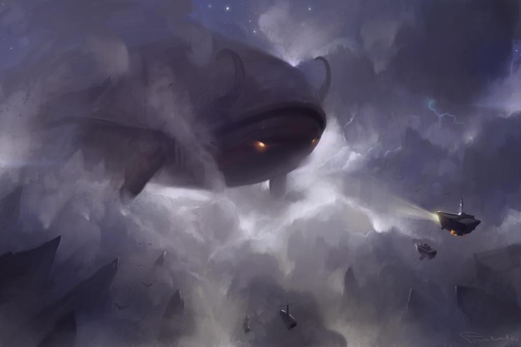 Sky Colossus sketch for Gavr by pankratiev