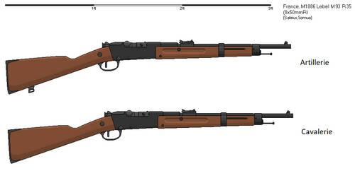 Gunbucket - Mousqueton Mle 1886 Lebel M93 R35
