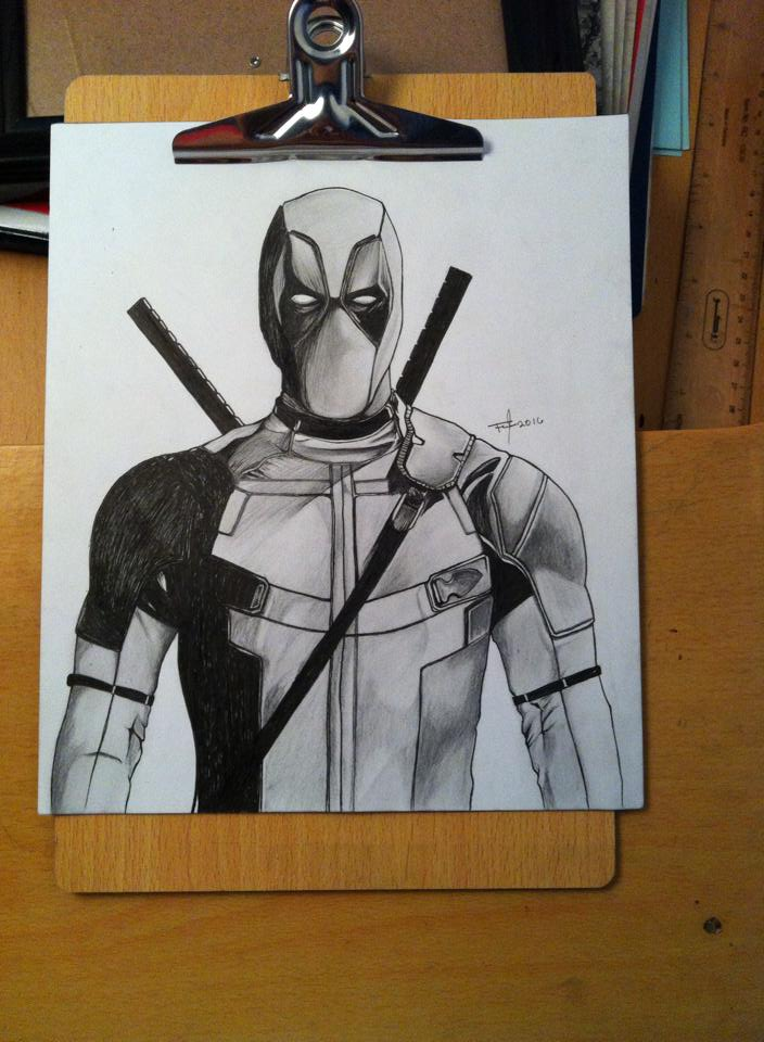 deadpool sketch by mrferdz