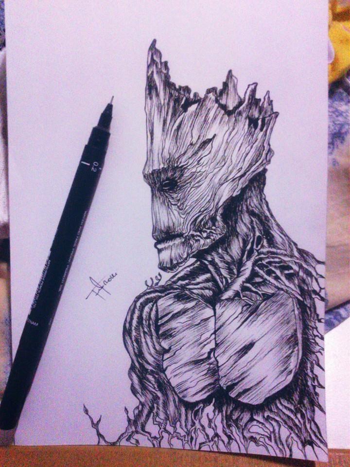 GOTG Groot by mrferdz
