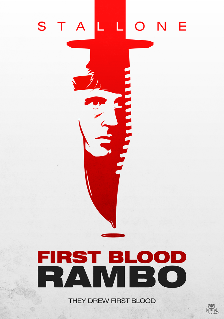 rambo first blood alternative poster by mightybeaver on