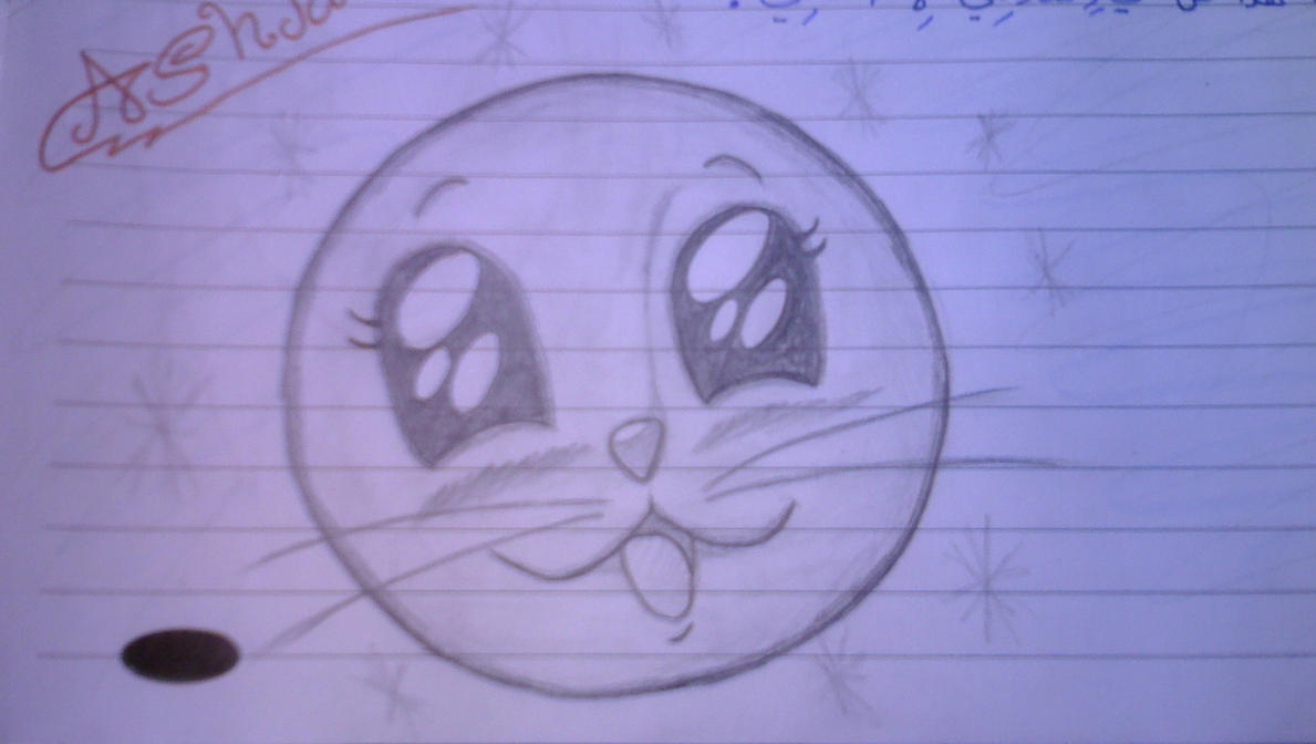cute cat face draw by ashjans on deviantart