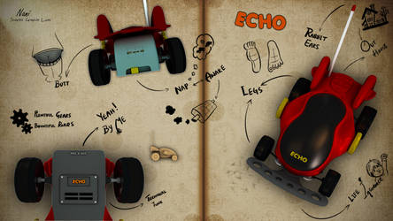 The Echo - Remote Toy Car Illustration!