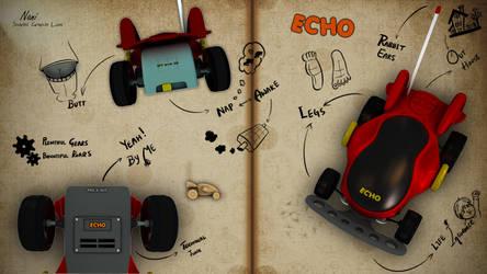 The Echo - Remote Toy Car Illustration!