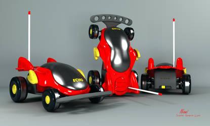 Echo - Remote Toy Car Coloured !