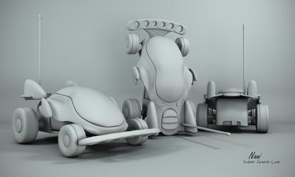 Echo - Remote Toy Car White !