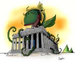 Audrey attacks Parthenon