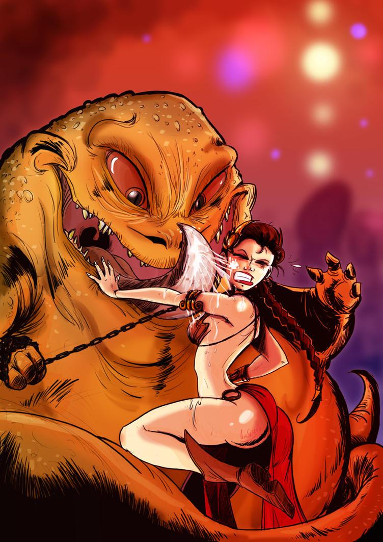 Jabba's slave by JimSam-X