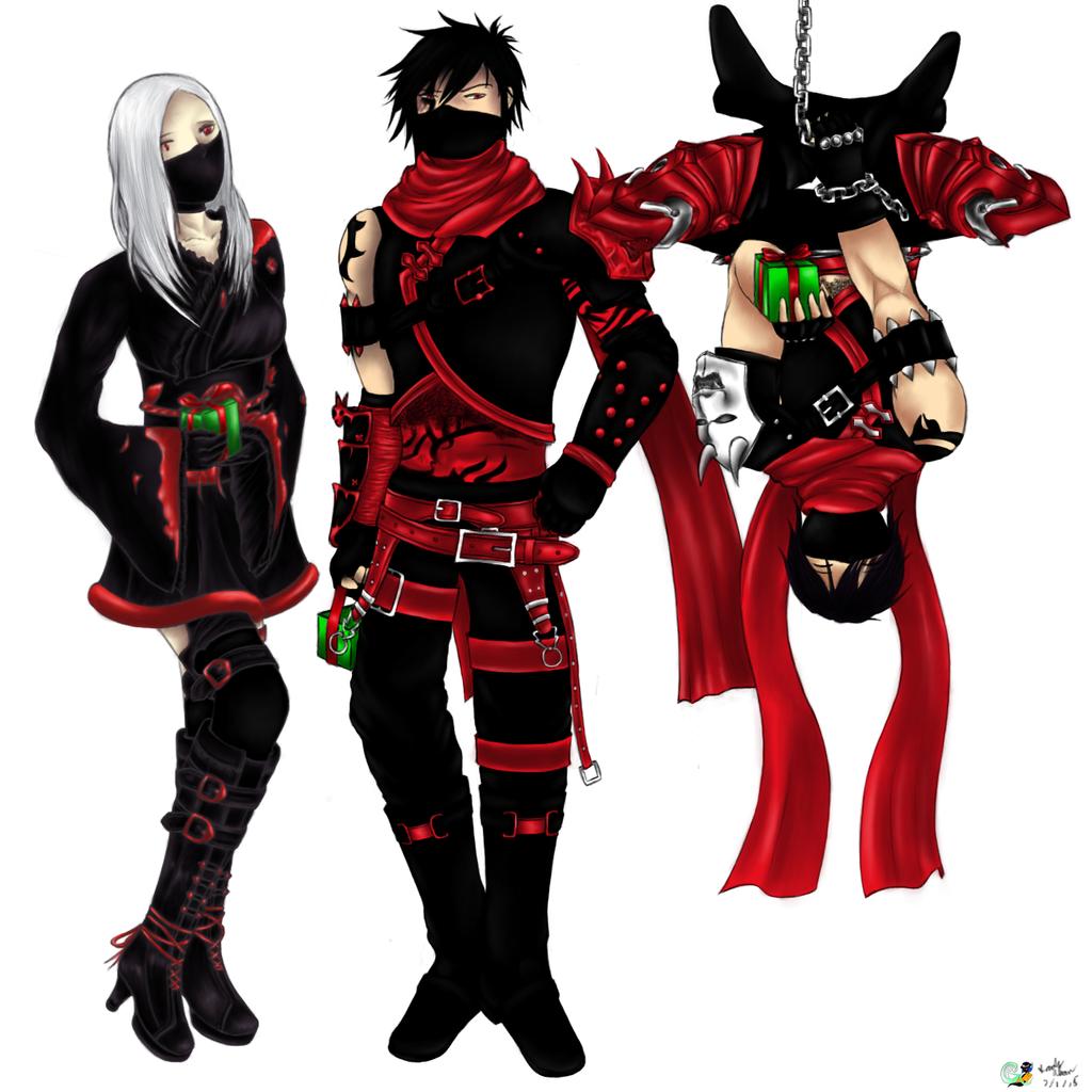 Vindictus - Christmas Ninjas (Arisha, Kai, Lann) by GaleSpider on ...