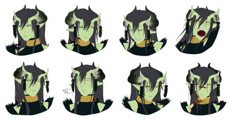 DnD - Illidian Facial Expressions