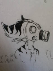 Gas Mask by BEEvirus
