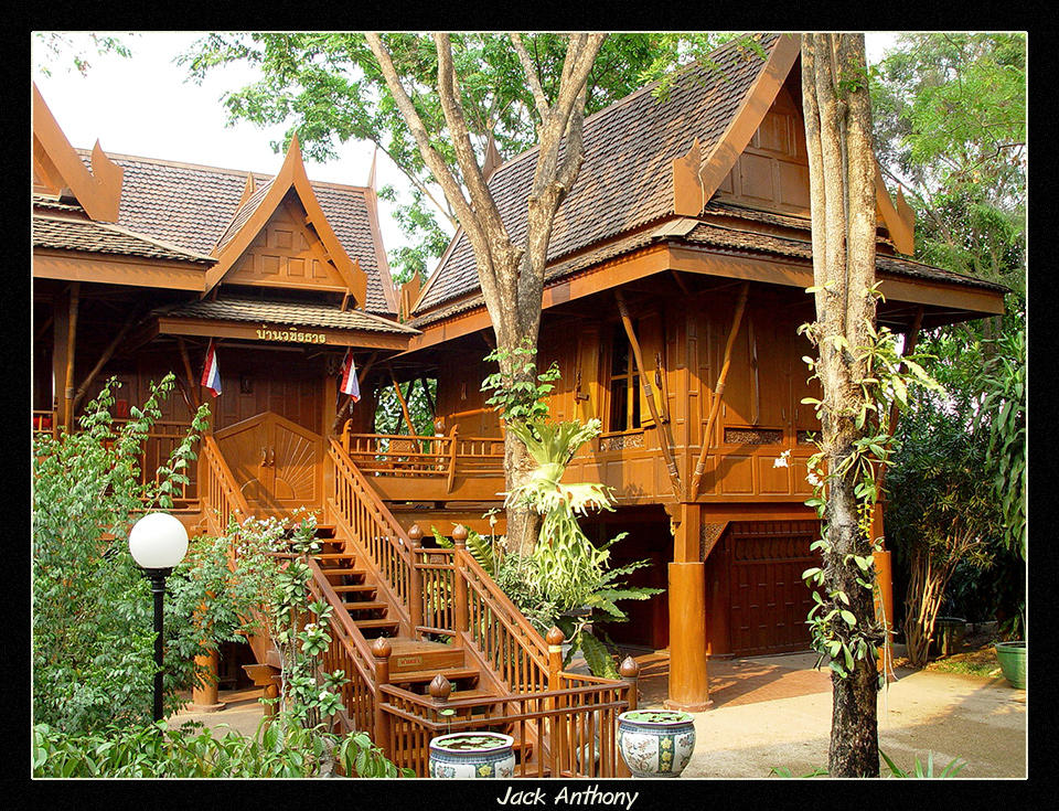 Thai style home by photothailand on deviantart for Thai style house plans