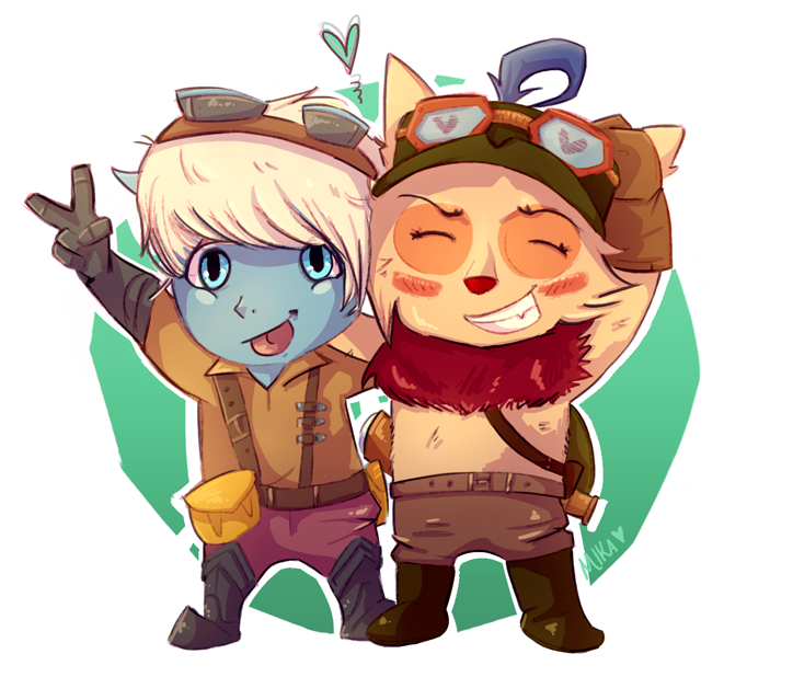 Tristana and Teemo by PuppyTheDestroyer