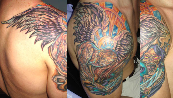 guardian angel tattoo by BeyondFlesh on deviantART