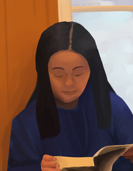 Reading Girl by tall-in-spirit
