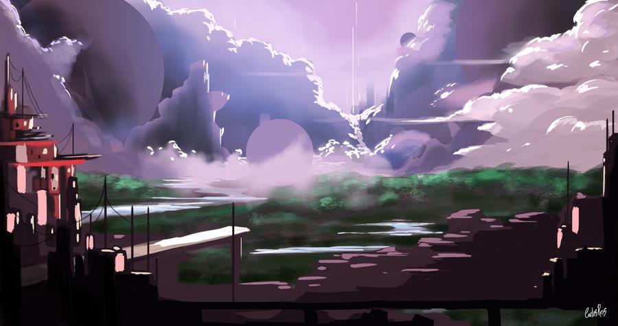Fantasy Landscape Concept by CarlosHReis
