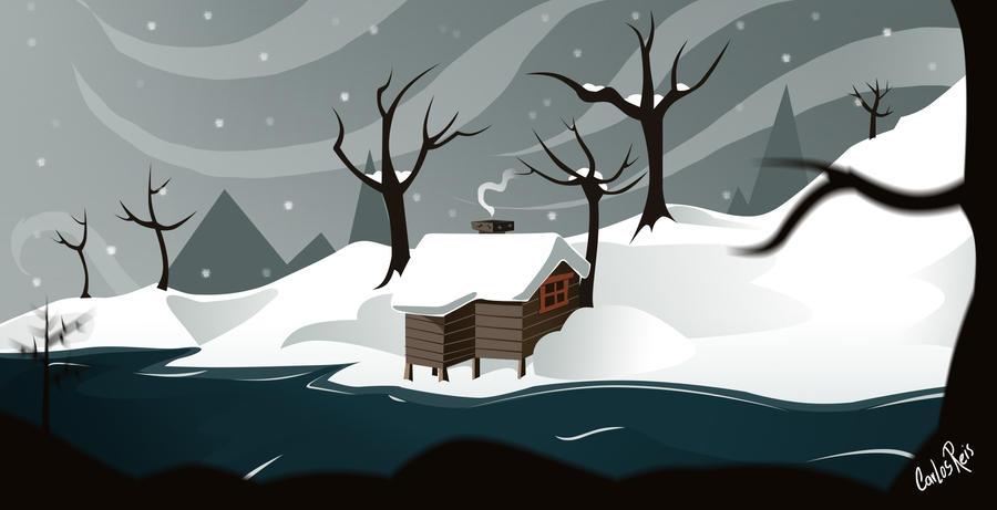 Snow Lake by CarlosHReis