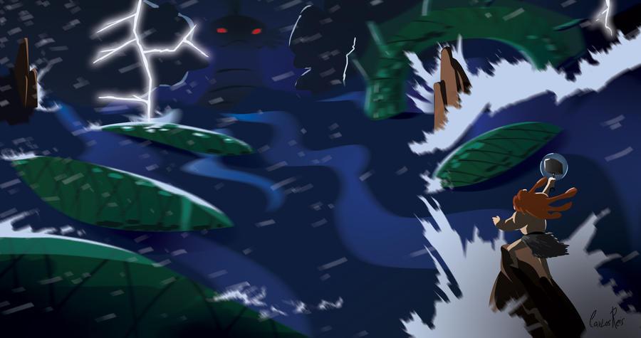 Revive the Battle: Thor x Jormungand by CarlosHReis