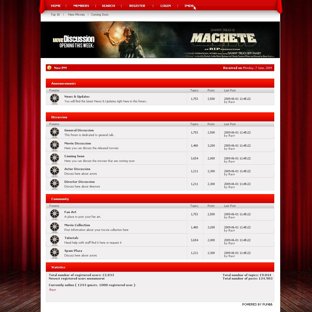 Movie Forum Layout