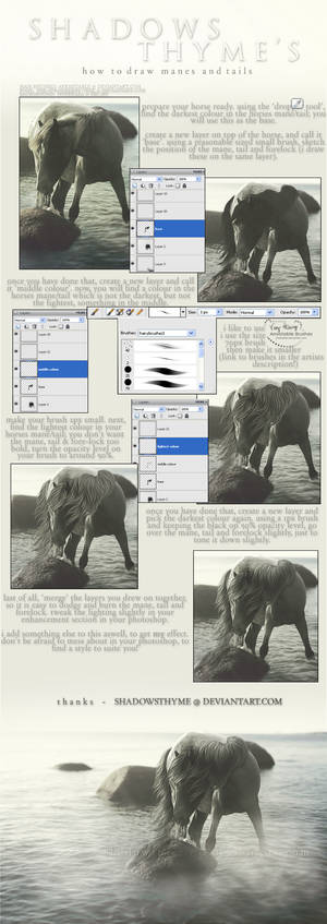 mane and tail tutorial