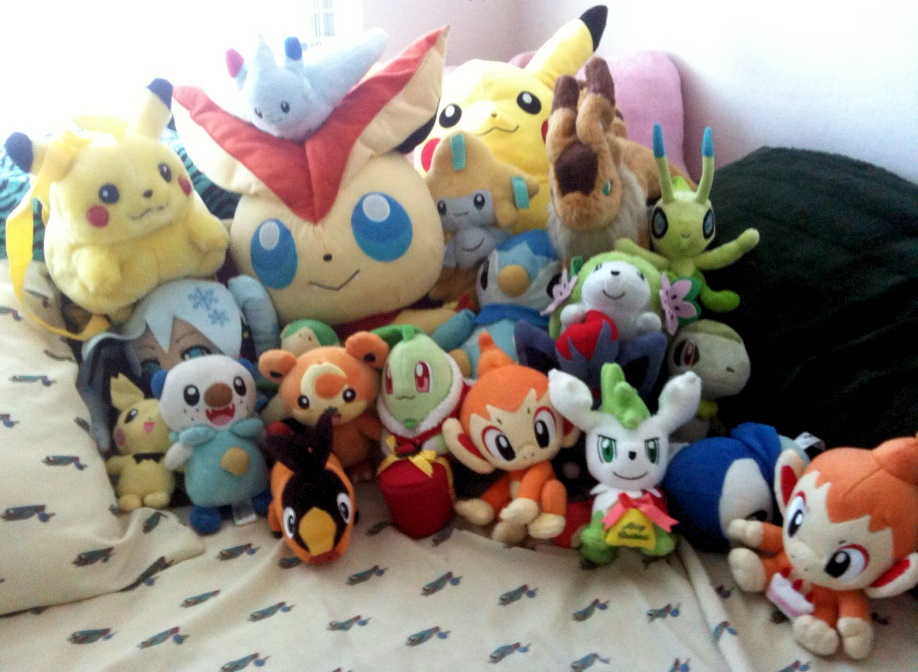 All my Pokemon plushies. by Rawrshiram