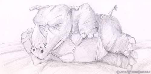 Rinoceronte en bikini by ClockWorkChicken